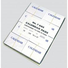 D0705 Calendar Pads No 7 Disp Box