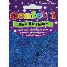 Confetti Happy Birthday Blue CON803