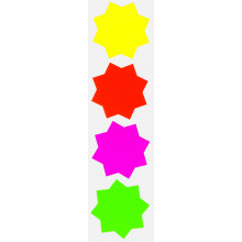 50 Fluorescent Stars 74mm