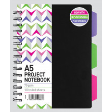 A5 Project Note Book 120 Pages 70gsm