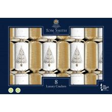 8x32cm Gold & White Crackers