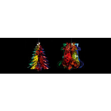 33cm Foil Bell/Tree Assorted