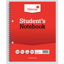 Silvine Spiral Notebook Narrow/Feint 9x7