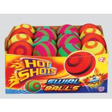 """Hot Shots Swirl Balls 6.2cm/2.5"""" Asst"""