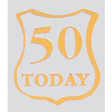 Roman Labels Gold Shield 50 Today