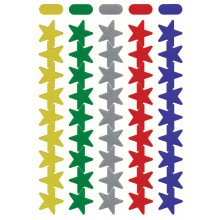 Self Adhesive Labels Assorted Stars