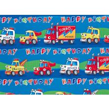 Flat Gift Wrap Trucks GW2587