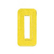 Roman Labels Gold Numerals No.0
