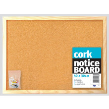 Cork Notice Board 40x30cm