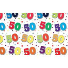 Flat Gift Wrap Sheets Age 50