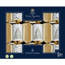 6x35cm Gold & White Crackers