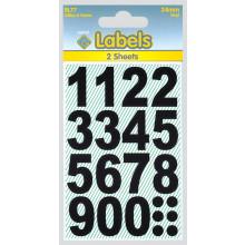 Labels - Black Vinyl Numbers 24mm