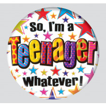 Teenager 150mm Large Badge