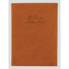 Large Address Book All Occasions - Tan