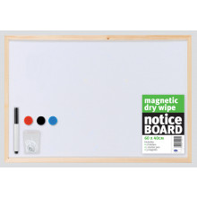 Magnetic Dry Wipe Notice Board 60x40cm