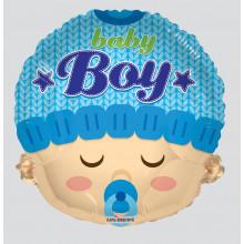 Baby Boy Face Foil Balloon