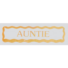 Stickers Gold Auntie