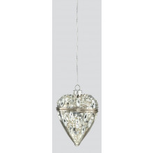 C2404 70mm Silver Hinged Glass Heart