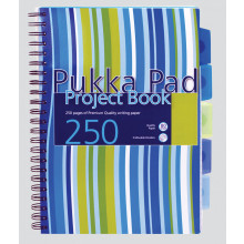 Pink/Blue A4 Pukka Project Books 250pgs