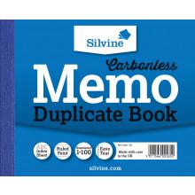 Silvine Carbonless Duplicate Memo Book