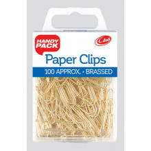 Brassed Paper Clips Handy Pack