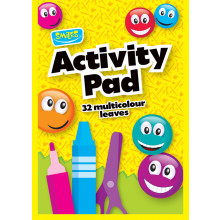 Smiles A4 Activity Pad Multi Col'd Pages