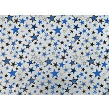 Flat Gift Wrap Male Silver Stars GW2586