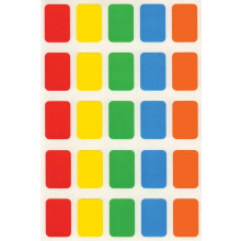 Coloured Self Adhesive Labels 12x18mm