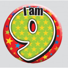 Age 9 Mix 55mm Small Badge