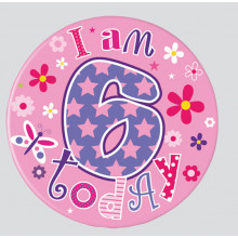 Age 6 Mix 55mm Small Badges