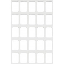 White Self Adhesive Labels 12x18mm