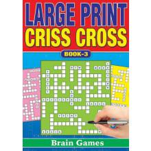 A5 Large Print Criss Cross 160pg 4 Asst