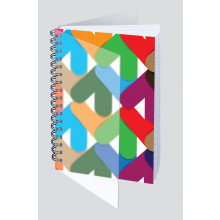 A6 Polyprop Abstract Wiro Notebook