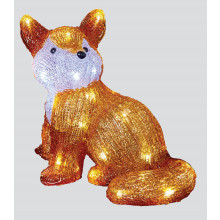 23cm Lit Acrylic Fox
