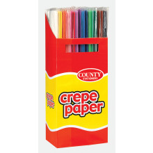 Crepe Paper 50cmx1.5m Assorted Display