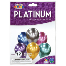 "11"" Platinum Balloons 12s Assorted"