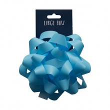 Light Blue Large Bow 15cm Carded