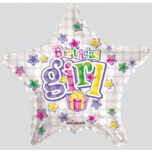 Foil Balloons Birthday Girl Star