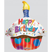 Foil Balloons Candle Shape Sprinkles