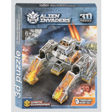 Alien Invaders 3D Puzzle Kits 4 Assorted