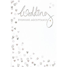 Wedding Evening Acceptance Cards IW322