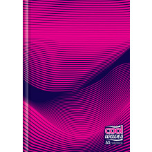 S2002 A5 Cool Waves Notebook Hardback