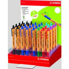 Stabilo Pointball Retractable Pen Asst