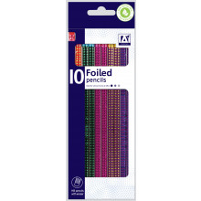 Foiled Pencils Rubber Tipped Pack 10