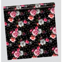 2.5m Gift Wrap Roll Blooms 2 Asst