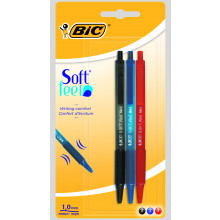 Bic Assorted Soft Feel Pen 3s