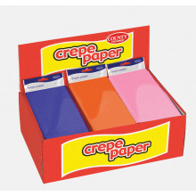 Crepe Paper 50cmx1.5m Counter Unit Asst