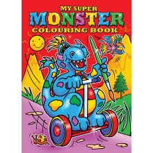 Super Monster Colouring Books 2 Asstd