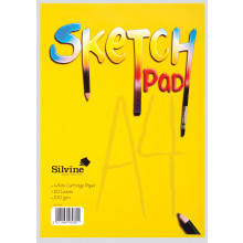 Silvine A4 Sketch Pad 20 Pages 100gsm