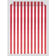 Red Stripe Paper Bags 17x22cm Pack 1000